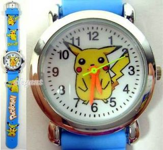 Nintendo Pikachu Pokemon Monsters Children Kids Wrist Quartz Watch