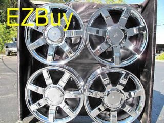ESCALADE FACTORY CHROME WHEELS RIMS 5309 WITH PLAIN CENTERCAP