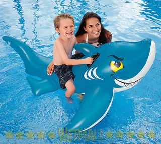 INTEX Friendly Shark Ride On Kids Inflatable Pool Toy