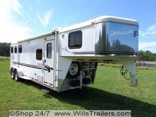 Bison 3 Horse Trailer Alumasport W/ Living Quarters No Hidden Reserve