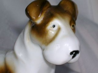 FOX TERRIER figurine GERMANY Ceramic DOG Puppy Pet Christmas Gift