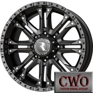 20 Black Raceline Octane Wheels Rims 8x165.1 8 Lug Chevy GMC Dodge
