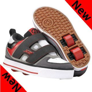 DART JUNIOR BOYS VELCRO TWO WHEELS BLACK RED ROLLER SKATE SHOES UK