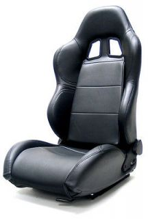 Yonaka Synthetic Leather Universal Racing Seats Black Red Blue White