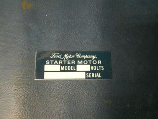 Jeep Willys MB GPW FORD Starter Motor sticker for GPW