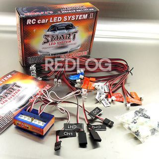 RC Car truck 1/10 LED lighting kit BRAKE + HEADLIGHT + SIGNAL fit 2.4g