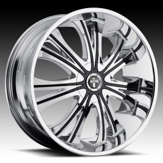 28 DUB Mamba Wheel SET 28x9.5 Chrome Rims for 5 & 6 LUG RWD Vehicles