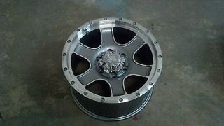 17 Ultra Nomad 6 lug Chevy Truck Wheel Rim 6x5.5 Anthracite Machined