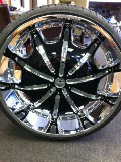 26 INCH RIMS AND TIRES WHEELS ROCKSTARR 557 CHROME CHEVROLET CAPRICE