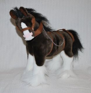 NEW* FARM ANIMAL HORSE WITH HARNESS SOFT STUFFED ANIMAL PLUSH TOY