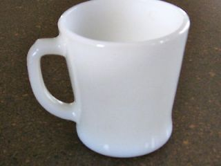 Vintage Anchor Hocking Fire King Mug Cup White Milk Glass D Handle