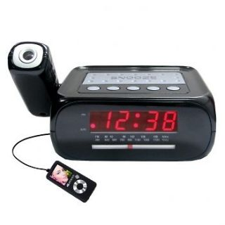 CEILING WALL PROJECTION ALARM CLOCK RADIO IPOD IPHONE  AUX NEW