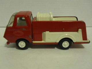 Tonka Red & White Fire Truck used Made in the USA 1/43 scale 60s