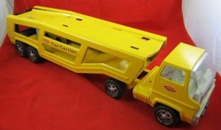 Vintage MIGHTY TONKA USA CAR CARRIER TOY Yellow Construction 1970s