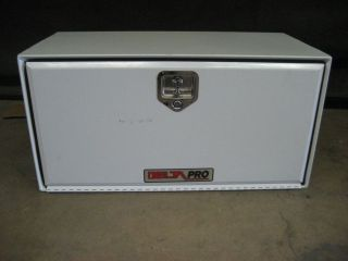 Delta Pro Truck Bed Tool Box White