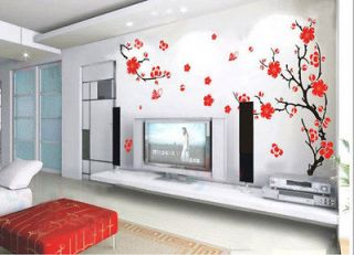 Charming Plum Blossom Flower Removable Wall Sticker Decor Decal Vinyl