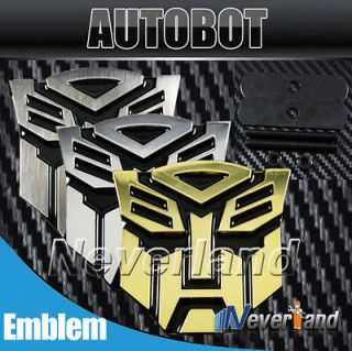 3D Transformers autobot Car Front Grille Emblem Metal Badges Logo 3