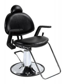 Black All Purpose Hydraulic Recline Barber Styling Spa Tattoo Chair