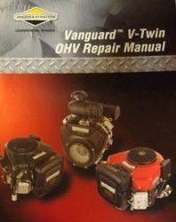 OEM BRIGGS & STRATTON 272144 Repair Manual V Twin OHV