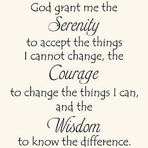 serenity prayer wall decal in Decals, Stickers & Vinyl Art