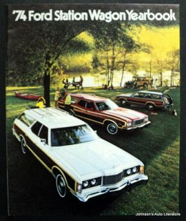 Ford 1974 Station Wagon Yearbook Brochure Model A On Cover Canadian