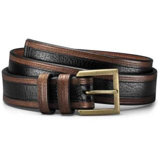 Allen Edmonds Mens Nashua Black Grain/Brown Burnished Belt 99701
