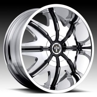 24 DUB DOGGY STYLE Wheel SET 24x9.5 Chrome Rims for 5 6 8 LUG RWD