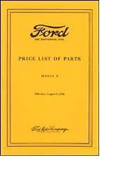Ford Model T Parts Catalog 1922 1927   62 Illustrations, Includes T