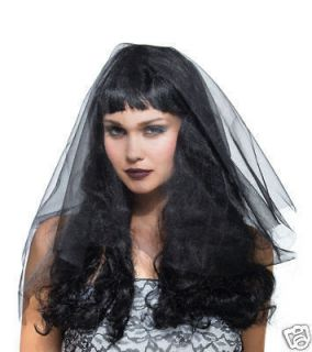 Gothic Black Widow Costume Wig With black veil Goth Chic Monster Bride