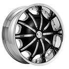 24 INCH RIMS AND TIRES WHEELS ROCKSTARR 557 CHROME NISSAN TITAN 22 26