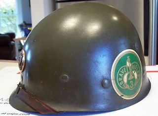 WWII U.S.Army Helmet Liner Brave Rifles 3 Division All Original And