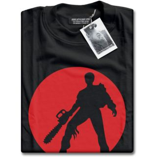 Evil Dead Ash With Chainsaw Mens Black Premium T Shirt Top Texas