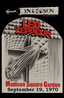 Classic Rock Led Zeppelin at The MSG New York Concert Poster Circa