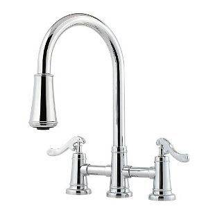 Price Pfister Ashfield Bridge Faucet High Arc Pull Down Out Kitchen