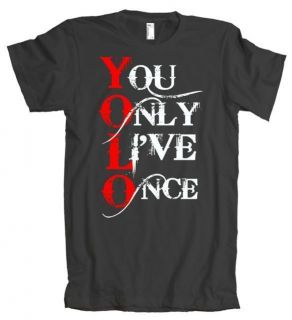 YOLO You Only Live Once Music American Apparel T Shirt