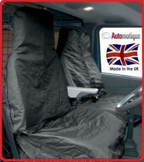 FORD TRANSIT SWB MWB LWB HEAVY DUTY VAN SEAT COVERS BLACK WATERPROOF