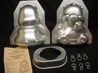 Wilton STANDUP CARE BEAR cake pan 3D mold INSTRUCTION CLIP Carebear