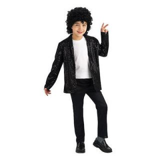 Michael Jackson Billie Jean Jacket Black Sequin Deluxe Halloween Adult
