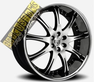 24 INCH WHEELS TIRES RIMS LEXANI LX9 SS 5X115 CHARGER 05 06 07 08 09
