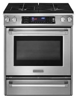 Pro Line Series KGSS907XSP 30 Slide in Gas Range with 4 Burners