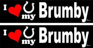 love my Brumby Horse trailer bumper stickers decals LARGE 3.0 X