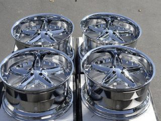 20 5x115 Chrome VCT Bruno Rims Chrysler 300 Dodge Challenger Magnum 5