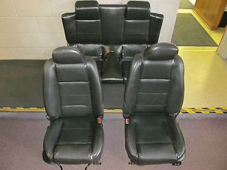 FRONT BUCKET SEATS & REAR SEAT FOR FORD MUSTANG / BLACK SEATS