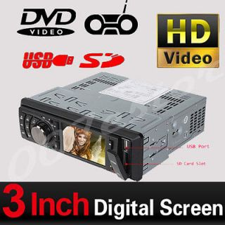 Din 3 In Dash Touch Screen Car Stereo DVD CD  Player Stereo Radio