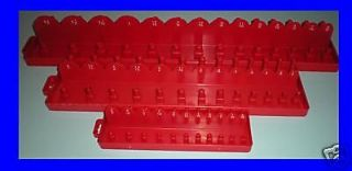 3pc Tool Box Socket Holder Tray Toolbox Organizer SAE Tool Box Set