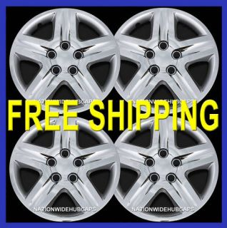 OF 4 CHROME FULL WHEEL COVERS 5 SPOKE HUB CAPS RIM COVER WHEELS RIMS