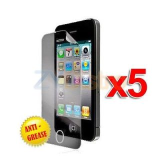 5X Anti Glare Matte LCD Screen Protector Cover for Apple iPhone 4S 4G