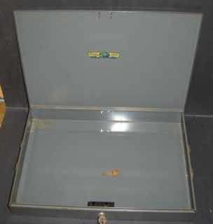 Slim Low Profile Steel Cash Box with 2 Keys 15 x 10 1/2 x 2 1/2