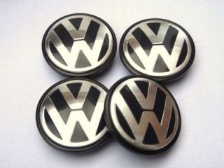 55mm VW VOLKSWAGEN ALLOY WHEEL CENTRE CAPS POLO GOLF