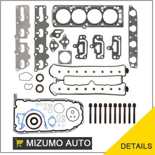 Full Gasket Set + Head Bolts 2.2L X22SE DOHC Ship Free